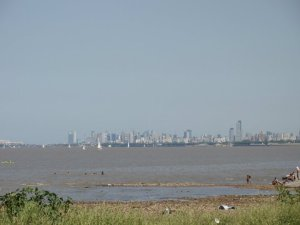 Buenos Aires from afar on the Rio de la Plata