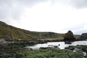 Hiking along the coastline
