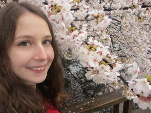 It was fun taking pictures with the cherry blossoms