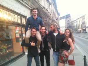 From left to right: Rafe, Ron, Alex, Tom (Sydney, Australia), Lydia (Manchester, England).