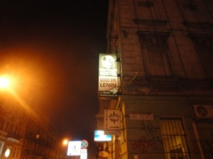 """A sign reading, """"Good Bye Lenin;"""" this reflects the local opinion of and influence on Russian occupation of Poland."""