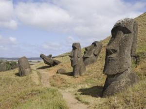 Moai on the island!