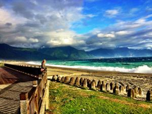 Mountains and beaches in coastal Hualien
