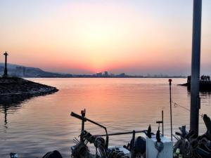 One of the many environments in Taiwan-sunset in Danshui, a harbor near Taipei