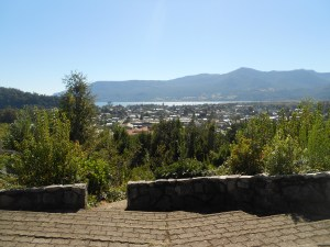 View of Pucon from a church on a hill