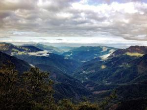 A breathtaking view of Taiwan's mountains from the highest peak in Taiwan and East Asia