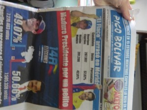 Here's the newspaper the day after the election