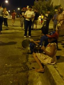 Kids banging pots!