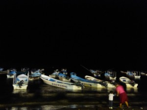 We went to a night market, and here are all the boats