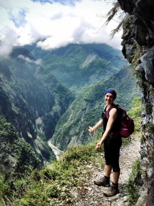 At the top of the Zhuilu Old Trail in Taroko Gorge, Taiwan