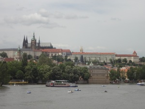 Boats and Prague Castle
