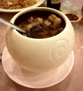 Buddha jumps over the wall, a traditional soup served during festive occasions in Chinese societies