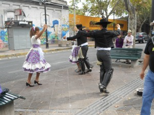 Cueca dancing in Santiago