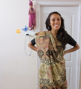 Finally, my own sari!
