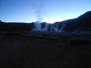 First sights of the Tatio Geysers!