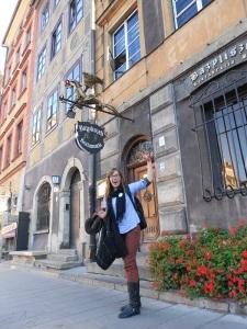 Goofing Around for my Friend Lyssa in Warsaw