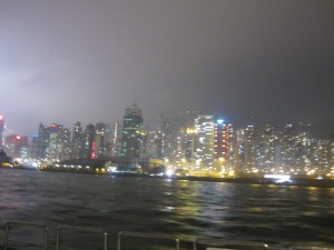Hong Kong Harbour during rainy season
