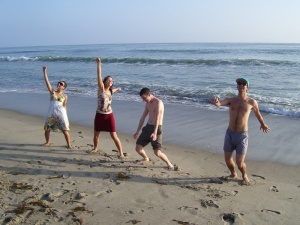 I want to be... dancing on the beach with my friends!