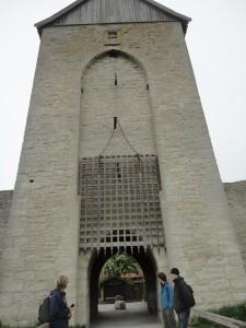 A medieval Viking (limestone) city gate.