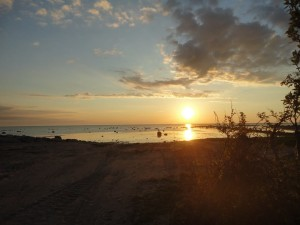 Watching the sun set off of the eastern coast of Gotland.