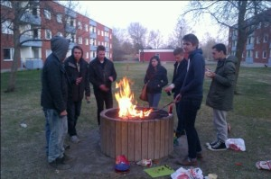 My friends and me barbequing on Finalborg!