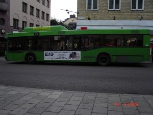 Biogas Bus in Uppsala. Note: photo not taken by me.