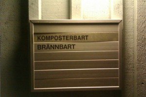 The trash room outside of my building, Rackarbergsgatan.