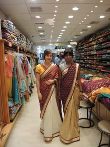 Me and my friend in saris