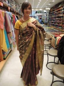 My friend in a sari