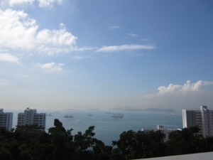 On a clear day in Hong Kong