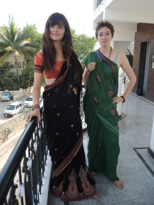 Other friends in saris