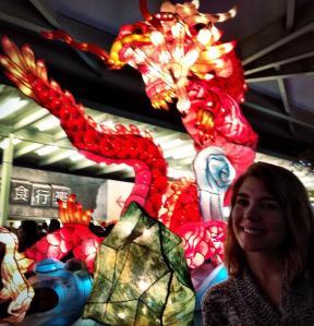 Red dragon paper lantern