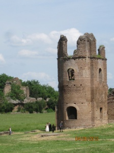 ruins along Appian Way