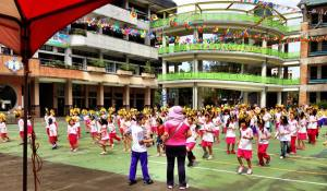 Sports day, a day of coordinated dances put on by students and lots of athletic events