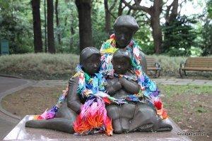 Statue in Minato No Mieru Oka Park