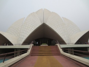 The stunning Baha'i Lotus Temple