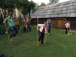 Trying Stilts in Torun