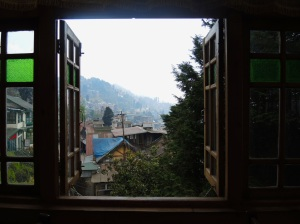 View of Darjeeling from a restaurant